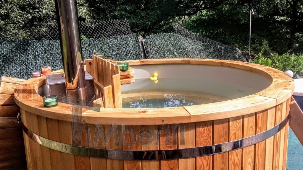 Hot tub project France full of water